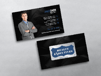 Realty executives business cards free shipping modern white realty executives business card colourmoves Images