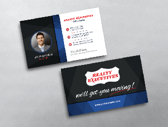 Realty executives business cards free shipping realty executives business card w agent portrait colourmoves Images