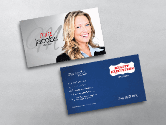 Realty executives business cards free shipping blue accent realty executives business card w colourmoves Images